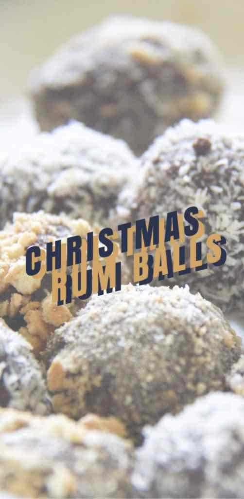 Christmas rum ball recipe