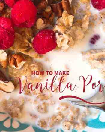 VANILLA PORRIDGE RECIPE