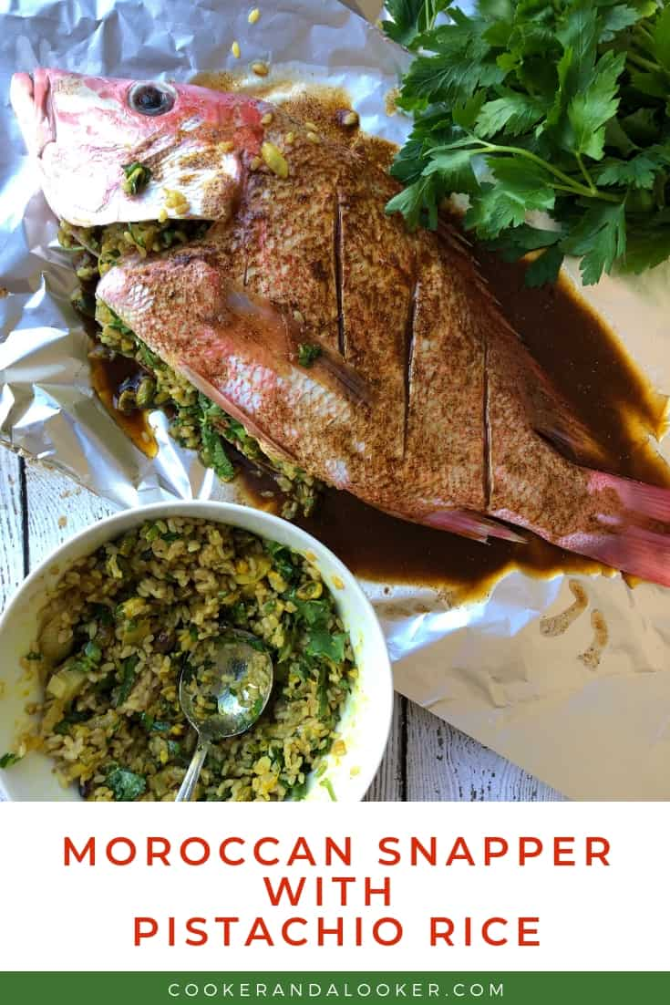 Moroccan Snapper with Pistachio Rice