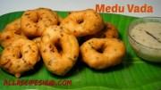 Medu Vada Recipe – Ulundu Vadai – How to make Soft and Crispy Vada