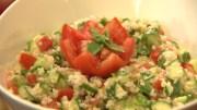 Arabic Salad & Chicken Thoran Recipe