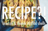 BROCCOLI & CHEESE STUFFED SHELLS – RECIPE – EP – 6 – Hot for food
