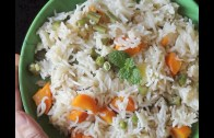 Coconut milk pulao recipe – How to make veg pulao with coconut milk
