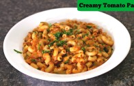 Creamy Tomato Macaroni – Quick Tiffin – Snack  – Kid's Recipe – Sruthi's Kitchen