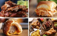 Game Day Spread – Ribs, Sliders, Pretzel Bombs