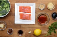 Maple – Glazed Salmon Dinner in 15 Minutes or Less