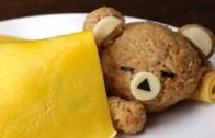 Sleeping Rice Bear with an Egg Blanket