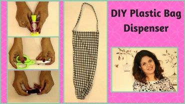 DIY Plastic Bags Dispenser From Old Pant – Polybag Organizer
