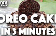 HOW TO: VEGAN OREO CAKE IN 3 MINUTES – 23 (30 Videos in 30 Days – Cheap Lazy Vegan