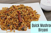 Quick Mushroom Biryani in Pressure Cooker – Indian Recipes – Sruthi's Kitchen