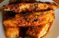 Seasoned pan fried flatfish – Gajami yangnyeom-twigim: 가자미 양념튀김