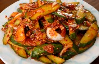 Spicy cucumber side dish -Oi-muchim – 오이무침