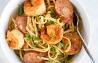 One-Pot Cajun Shrimp Sausage Pasta