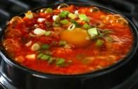 Kimchi soft tofu stew – kimchi sundubu-jjigae – 김치순두부찌개)