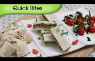 Party Appetizers, Quick Bites – 3 Different Types Of Starters – Snack Recipes By Ruchi Bharani