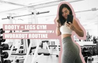 BOOTY WORKOUT VLOG – Grow Glutes Without Growing Quads – Rachel Aust