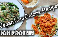 LOW CALORIE HIGH PROTEIN VEGAN RECIPES – Gluten-Free too