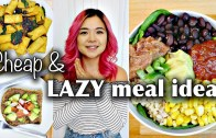 My Go-To CHEAP & LAZY VEGAN MEAL IDEAS (breakfast, lunch, dinner)