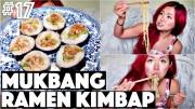RAMEN KIMBAP MUKBANG Q&A (VEGAN -17 – 30 Videos in 30 Days Cheap Lazy Vegan