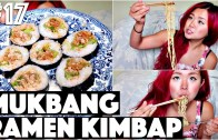 RAMEN KIMBAP MUKBANG Q&A (VEGAN -17 – 30 Videos in 30 Days Cheap Lazy Vegan