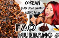VEGAN MUKBANG – 5 – KOREAN BLACK BEAN NOODLES – jjajjaroni – + FAQs – Cheap Lazy Vegan