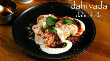 dahi vada recipe – dahi bhalla recipe – how to make north indian dahi bhalle