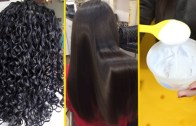 Learn How To Straighten Hair At Home – Hair Rebonding Tutorial, Hair Straightening At Home
