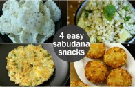4 easy sabudana snacks recipes for fasting – healthy sago recipes – sabudana recipes for fast