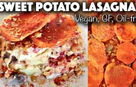 VEGAN HOLIDAY RECIPE – SWEET POTATO LASAGNA – gluten – free + oil – free
