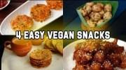 4 Easy Vegan snacks – Vegan Recipes – Snack Recipe