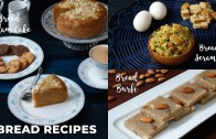 Bread Recipes – Bread Badam Cake – Bread Burfi – Bread Scramble