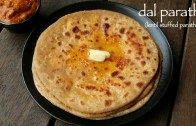 dal paratha recipe – dal ka paratha – lentil stuffed paratha recipe