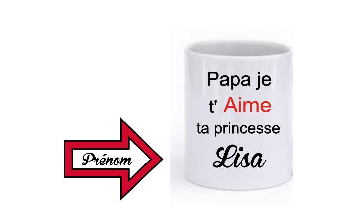 Je Cooketi Mug Papa T'aime Princesse Ta LSzqUVGpM