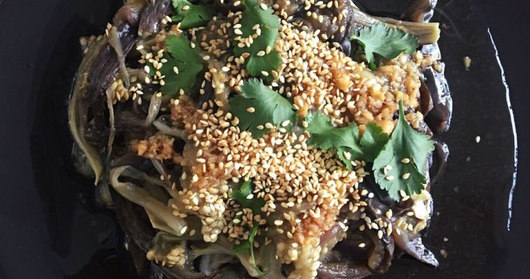 Chinese Eggplant Salad, An Easy Make-Ahead Menu Option