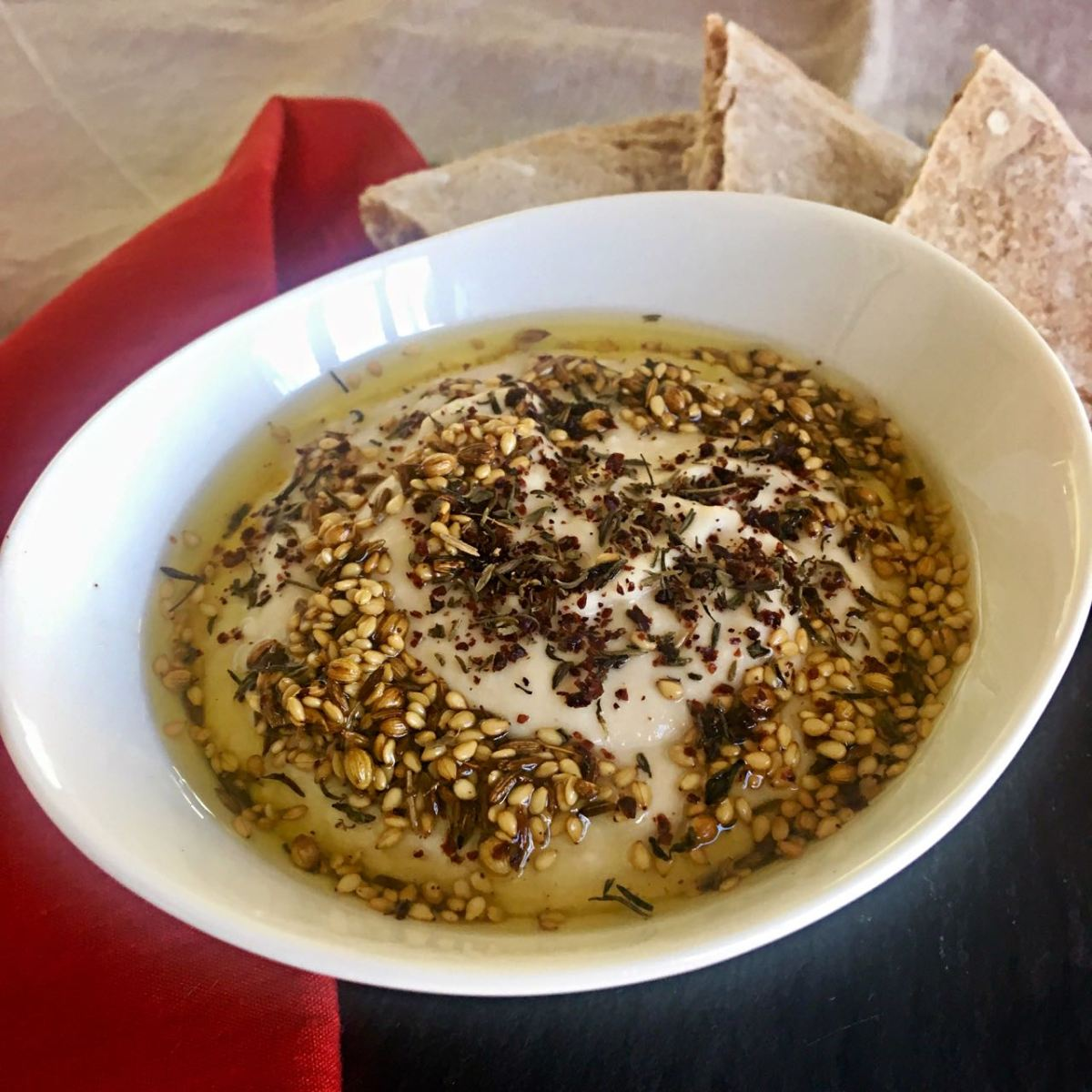 Festive White Bean Hummus, with Toasted Spices
