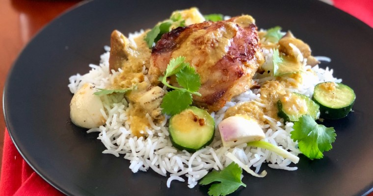 Mombasa Style Baked Chicken Curry with Vegetables