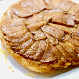 Apple and Aubergine Tarte Tatin, A Recipe from Lampedusa Pie | cookglobaleatlocal.com