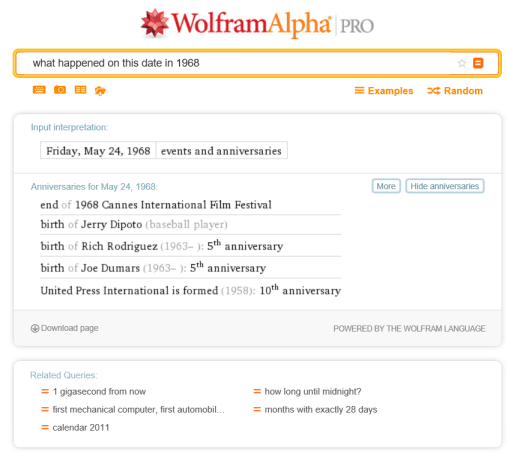 What happened on this date (May 24) in 1968?