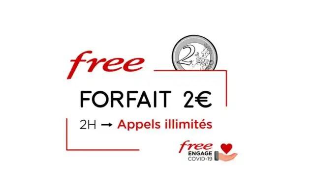 free a 2 euros et internet