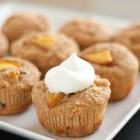 nectarine cupcakes with honey whipped cream