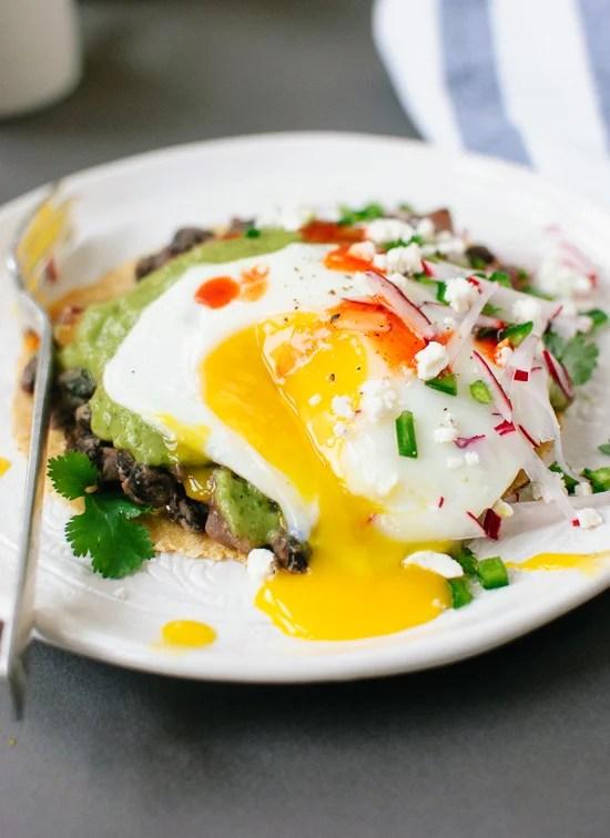 Huevos rancheros with avocado salsa verde recipe - cookieandkate.com