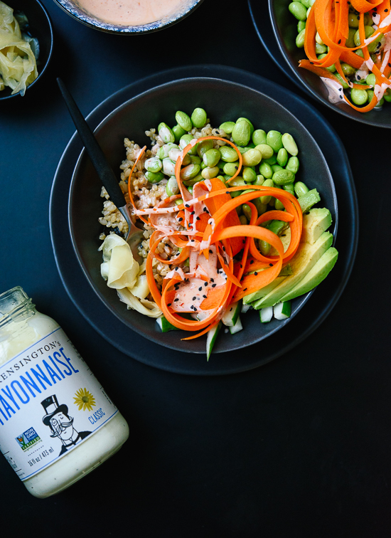 Now this is how to make sushi at home! Vegetarian sushi bowl recipe - cookieandkate.com