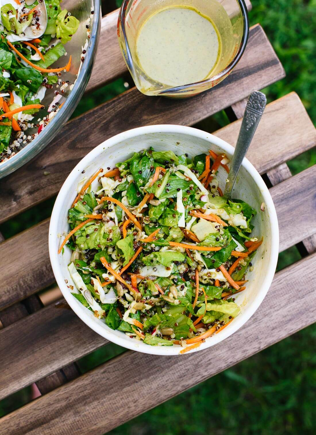 This mega crunchy salad is super healthy and totally irresistible! Vegan and gluten free. cookieandkate.com