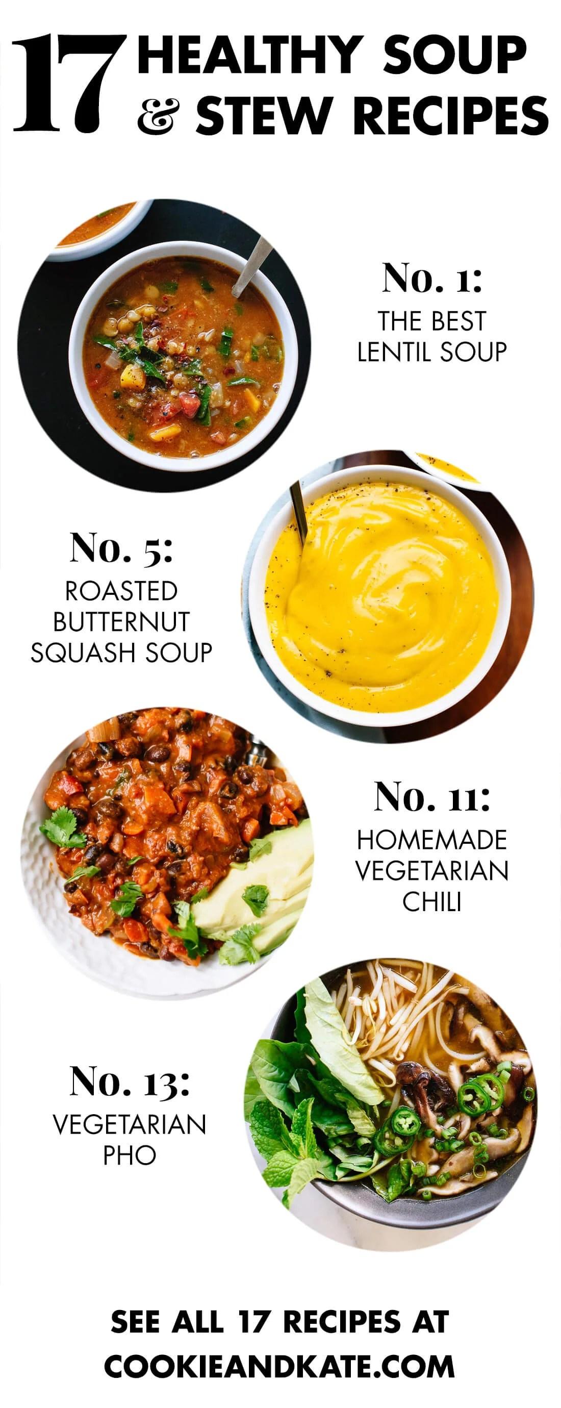 17 Healthy Vegetarian Soup Recipes