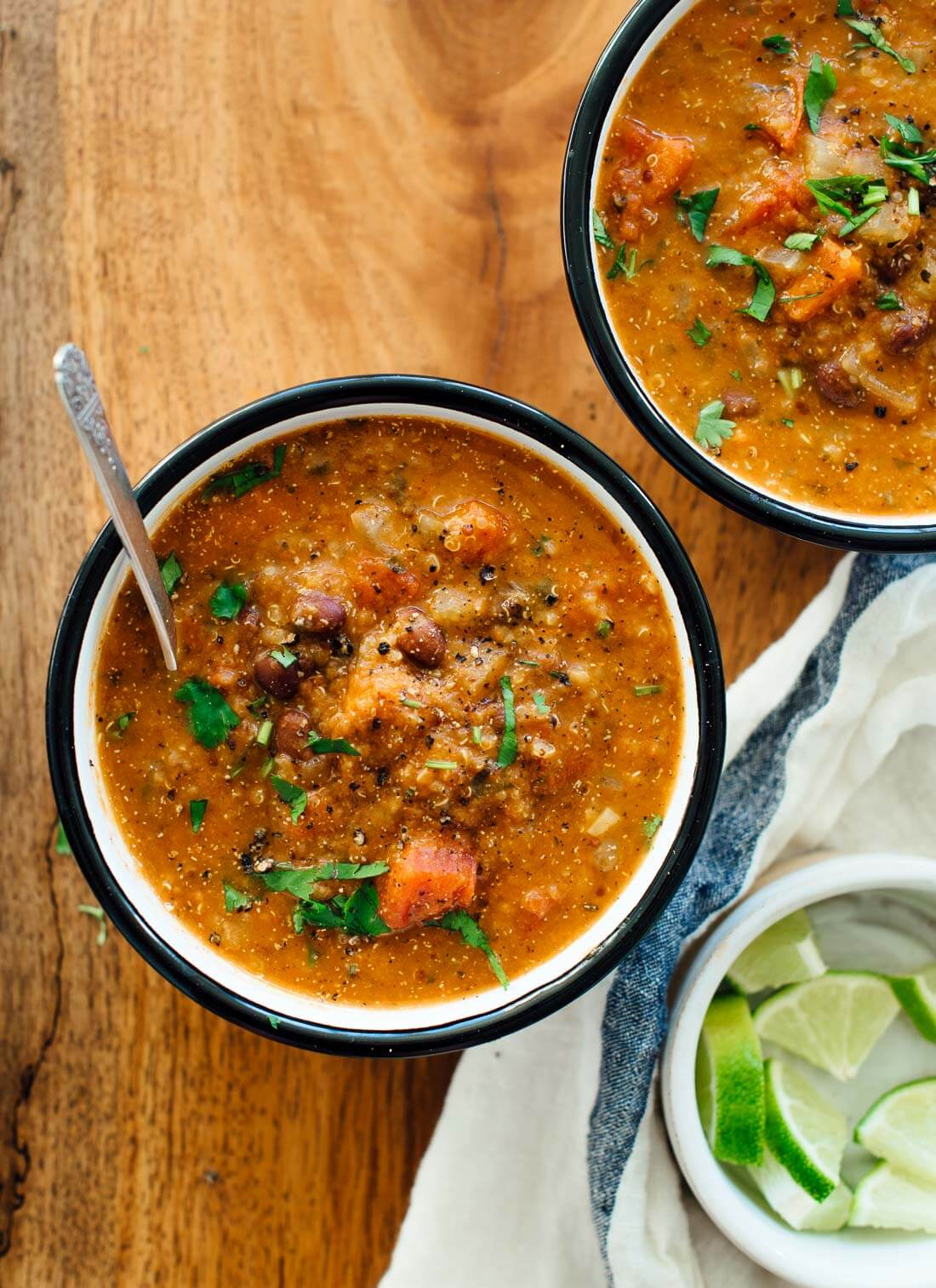 This hearty vegan quinoa soup will fill you up but won't weigh you down!