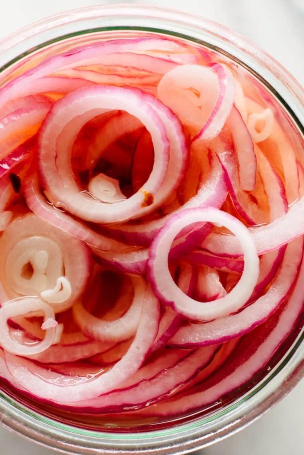 quick pickled onions recipe