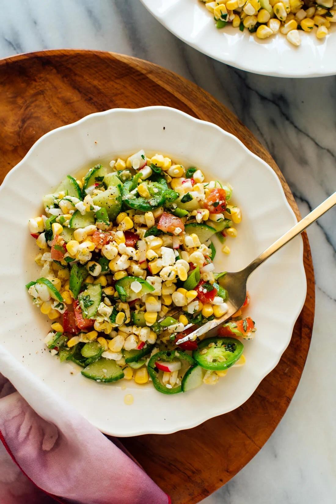Garden Fresh Corn Salad Recipe Cookie And Kate