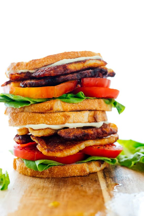 vegetarian BLT sandwich recipe
