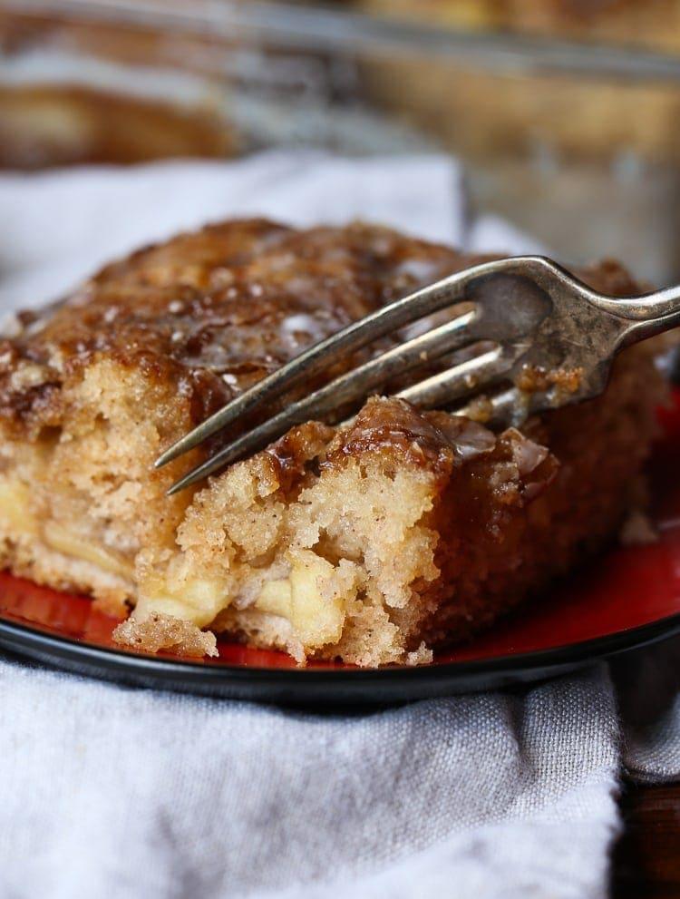 APPLE FRITTER CAKE!