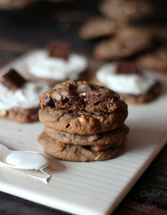 Hot Chocolate Cookies | Cookies and Cups
